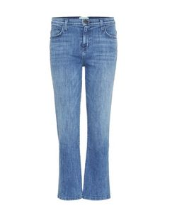 Current/Elliott | The Kick Mid-Rise Relaxed Flared Cropped Jeans
