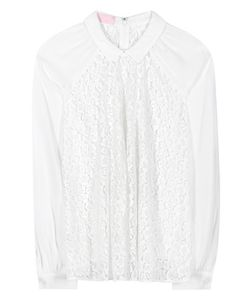 Giamba | Lace And Crêpe Blouse
