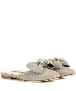 Oscar de la Renta | Embellished Slip-On Sandals