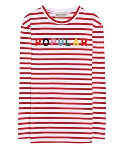 Être Cécile | Striped Cotton Jersey Top With Appliqué