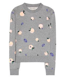 Être Cécile | Peach Printed Cotton Sweatshirt