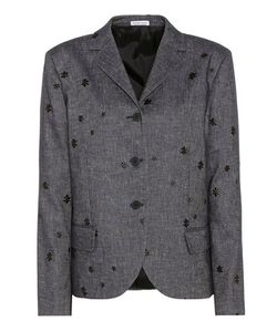 Tomas Maier | Embroidered Cotton And Linen Blazer