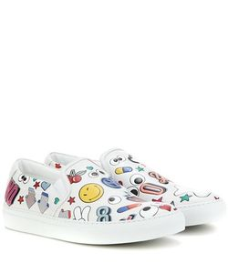 Anya Hindmarch | All Over Wink Leather Slip-On Sneakers