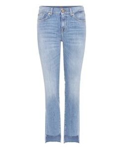 7 For All Mankind | Mid-Rise Roxanne Jeans With Cropped Step Hem