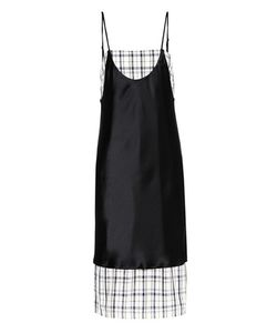 Public School | Kel Blair Plaid Satin Sleeveless Dress