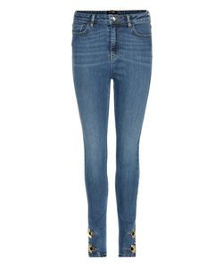 Anthony Vaccarello | Embellished High-Rise Skinny Jeans