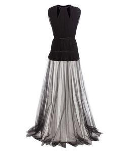 Giambattista Valli | Pleated Silk-Crêpe And Tulle Dress