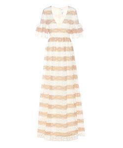 Huishan Zhang | Cora Striped Lace Dress