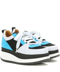 Ganni   Naomi Suede Platform Sneakers
