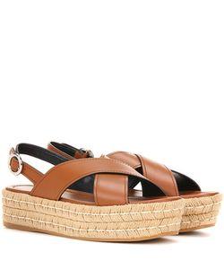 Prada | Leather Espadrilles Sandals