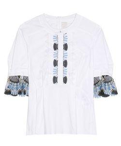 Peter Pilotto | Cotton-Blend Blouse With Lace