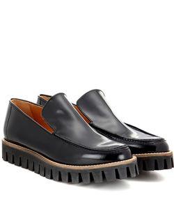 Ganni   Mimi Shine Leather Loafers