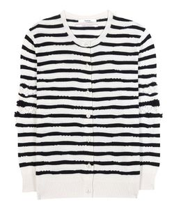 Barrie | Striped Cashmere Cardigan