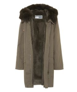 Army Yves Salomon   Fur-Trimmed Coat