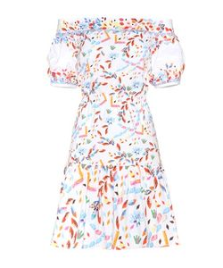 Peter Pilotto | Printed Cotton Off-The-Shoulder Dress