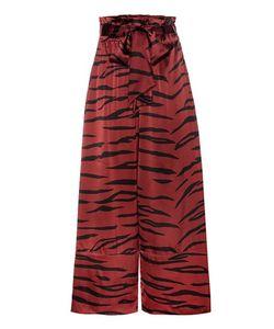 Ganni   Iona Silk-Blend Trousers
