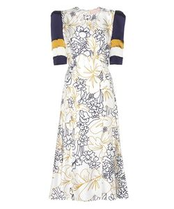 Roksanda   Thalia Printed Silk-Twill Dress