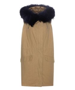Army Yves Salomon | Fur-Trimmed Cotton Vest