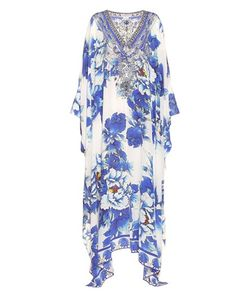 Camilla | Guardian Of Secrets Embellished Printed Silk Kaftan