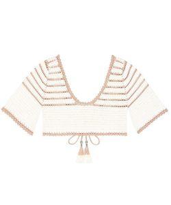She Made Me   Sana Crocheted Cotton Bikini Top