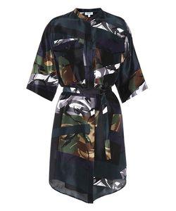 Kenzo | Broken Camo Camouflage-Printed Silk Dress