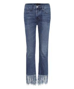 3X1 | Straight Crop Fringe Jeans