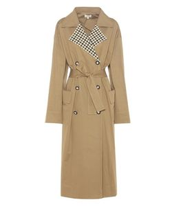 Isa Arfen | Checked Collar Trench Coat