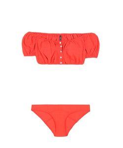 Lisa Marie Fernandez | Leandra Seersucker Button Down Bikini