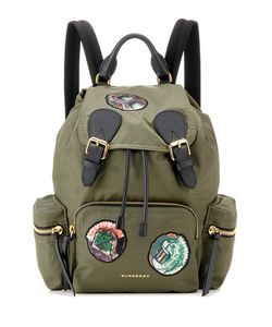 Burberry | The Medium Appliqué Gabardine Backpack