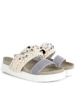 INUIKII | Braided Slippers With Embellishment
