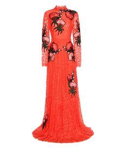 Erdem   Carolyn Embroidered Appliqué Lace Gown