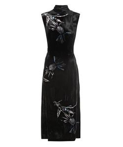 Miu Miu | Printed Velvet Midi Dress