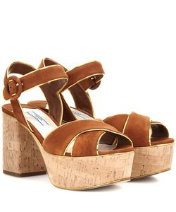 Prada | Platform Suede Sandals