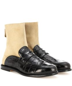Loewe | Sock Leather Boot Loafers