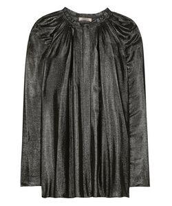 Nina Ricci | Coated Pleated Blouse