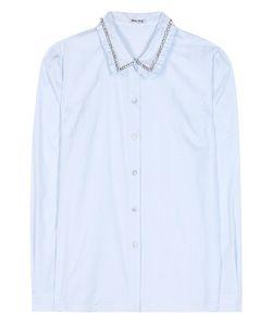Miu Miu | Crystal-Embellished Cotton Shirt