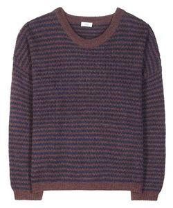 Closed   Striped Wool And Alpaca-Blend Sweater