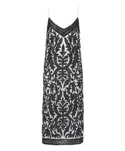 Ganni   Colby Sequinned-Tulle Slip Dress