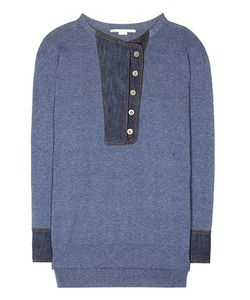 Stella McCartney | Denim-Trimmed Sweater