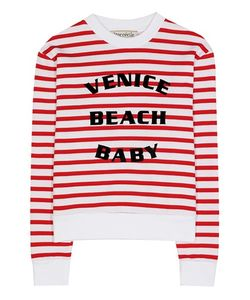Être Cécile | Striped Printed Cotton Sweatshirt