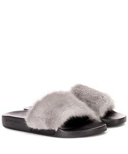 Givenchy | Fur Slip-On Sandals