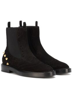 Balenciaga | Embellished Suede Chelsea Boots
