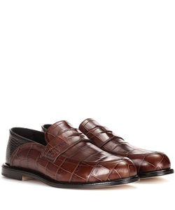 Loewe | Embossed Leather Loafers