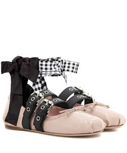 Miu Miu | Buckle-Embellished Patent Leather Ballerinas