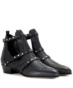 Jimmy Choo | Harley 30 Leather Cut-Out Boots