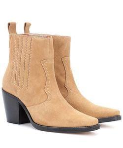 Ganni   Rita Suede Ankle Boots