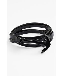 Miansai | Noir Anchor Leather Bracelet