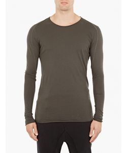 Thom Krom | Olive Long-Sleeved Panelled T-Shirt