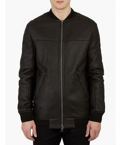 Yves Salomon | Leather Shearling Bomber Jacket