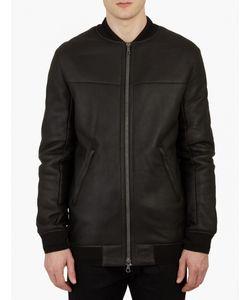 Yves Salomon | Leather Shearling Bomber Jacket